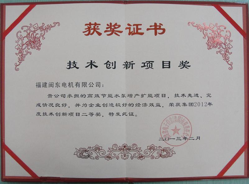 技术创新项目奖